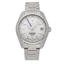 Seiko Grand Seiko Hi-Beat GMT Auto 40mm Titanium Mens Bracelet Watch SBGJ011