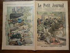 PETIT JOURNAL- 1906 - N° 819 PARIS chasse à l'ours / SAINT BRIEUC fêtes barde