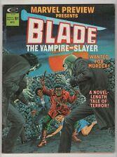 Marvel Preview #3 nice copy Blade the Vampire Slayer 1975 Marvel magazine