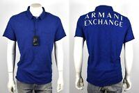 Armani Exchange A|X Men's Cotton Logo Polo Shirt/Top - 3YZF80-ZN21Z Size XS