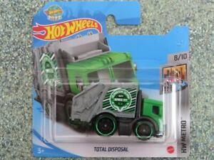 Hot Wheels 2021 #139/250 TOTAL DISPOSAL green garbage truck @G