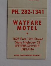 1960s Wayfare Motel East 10th Street Gaines Jeffersonville IN Clark Co Matchbook