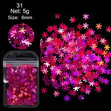 5g Nail Glitter Sequins Christmas Snowflake Flakes Paillette 3D Nail Art Decor