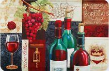 "ANTI-FATIGUE NON SLIP FLOOR MAT(18""x30"")WINE & GRAPES,3 BOTTLES & 1 GLASS, DC,HD"