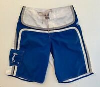 BILLABONG men's blue white retro long board surf beach shorts size 33