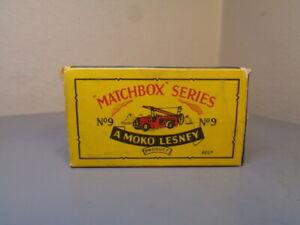 MATCHBOX MOKO LESNEY No 9A VINTAGE ORIGINAL BOX FOR DENNIS FIRE ESCAPE VERY GOOD