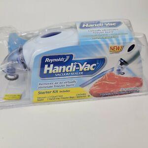 Reynolds Handi-Vac Vacuum Sealer Freezer Storage Bag Starter Kit