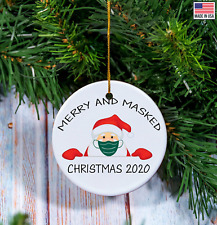 Merry and Masked Christmas Ornament