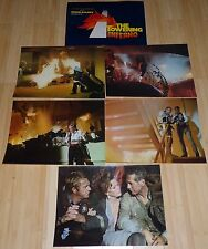 THE TOWERING INFERNO 1974 ORIGINAL LOBBY CARD LOT OF 6 PAUL NEWMAN STEVE MCQUEEN