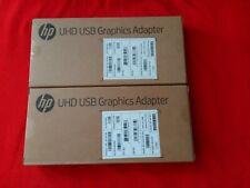 HP Genuine 2 Piece Lot N2U81AA#ABA UHD USB Graphics Adapters New Sealed Retail