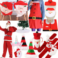 Christmas Decorations Santa Chair /Toilet /Gift Wine Covers Dinner Decor Party