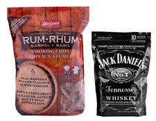 Rum barrel smoking chips & Jack Daniels smoking pellets