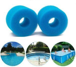 6/12x Foam Spa Hot Tub Filters V1 S1 Washable Bio Sponge Intex Reusable 73x108cm