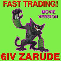 ZARUDE 6IV The Pokemon Movie Coco Pokemon Sword and Shield TRADING NOW FAST