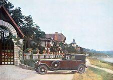 AUTOMOBILE RENAULT 40 CV 1924 à Bois-le-Roi & Moret-sur-Loing cliché Venlujol