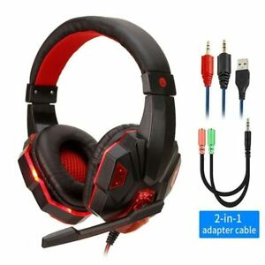 Professional Led Light Gamer Headset for Computer PS4 PS5 Fifa 21 Gaming Headpho