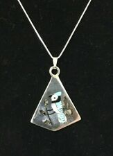Beautiful Multi-Stone Blue Jay Necklace Zuni S.C. Edaakie Sterling Silver