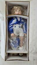 "NIB NFL Jr Dallas Cowboys Cheerleader 18"" Porcelain Doll Haley Alexis Jones 1996"