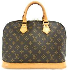 Authentic LOUIS VUITTON monogram canvas Alma PM Handbag Satchel France M51130