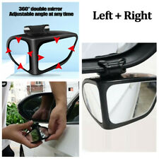 Car Right+Left Side Rear View Mirror 360° Wide Angle Convex Blind Spot Mirror