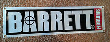 BARRETT Firearms  BANNER 4 FT 50 cal caliber sniper rifle gun sign hunting