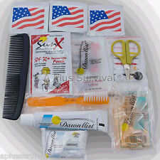 Lot of 10 Mini Hygiene Kit for Earthquake Camping Backpack Survival Kits