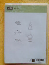 SO CUTE...by Stampin Up NEW! Stickers Mounted..Bunny, Sweet Pea, Cupcake, Peanut