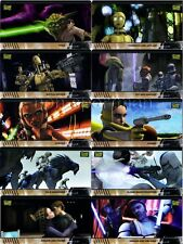 STAR WARS CLONE WARS WIDEVISION ANIMATION CLEAR CEL SET (10)