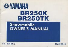 1986 YAMAHA BR250K. BR250TK SNOWMOBILE OWNERS MANUAL LIT-12628-00-73 (865)