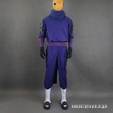 NARUTO Akatsuki Ninja Tobi Obito Uchiha Cosplay mask Costume Full Set