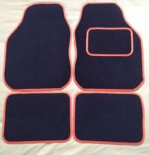 UNIVERSAL CAR FLOOR MATS- BLACK WITH ORANGE TRIM FOR ROVER CITY 25 75 45 618 620
