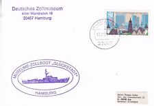 GERMAN CUSTOMS BOAT GLUCKSTADT A SHIPS CACHED PLAIN BACKED CARD