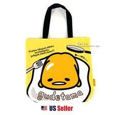 Sanrio Gudetama Canvas Eco Bag Tote Bag : Gudetama (Yellow)