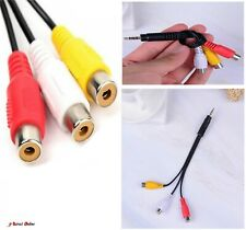 3.5mm Jack AV Plug Male To 3RCA Female Audio Video Cable Cord Jack Adapter TV