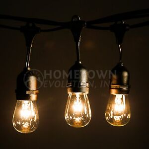 E26 Commercial String Lights with Suspender- A15 and S14 Incandescent Bulbs