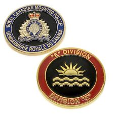 """RCMP Police Challenge Coin """"E"""" Division Unit Royal Canadian Mounted Police"""