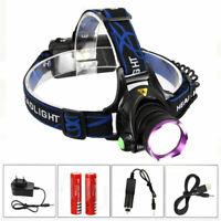Recargable 5000LM XM-L T6 LED Linterna Frontal Head Lámpara Antorch Luz Cabeza A