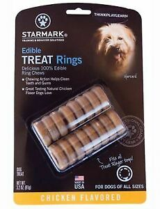 Starmark Treat Dispensing Edible Treat Rings for Dogs - Chicken Flavoured