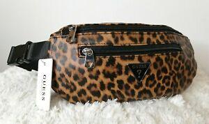 GUESS Leopard Print JUNCTION TRAVEL Bum Bag, Brand new