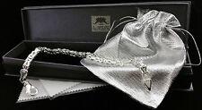 echt 925 Silber Armband kette Königskette Armkette MASSIV armreif vierkant 24cm
