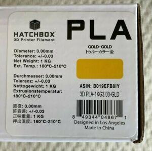 HATCHBOX PLA 3D Printer Filament 1 kg Spool, 3.00 mm, Gold