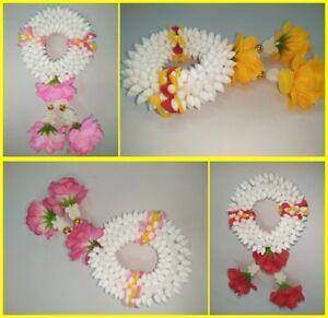 Artificial Thai Gardenia Flower Plastic Mini Round Garland Hang Phuang Malai