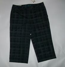 UNDER ARMOUR UA Performance GOLF Gray Plaid CAPRIS PANTS Womens Size 4 Rt $69.99