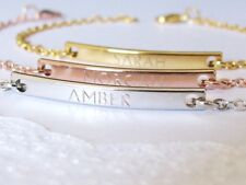 Personalized Bracelets for Women in Gold Plated, Silver Plated or Rose Gold
