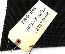 "Unknown Brand Conveyor Belt, 14' x 16"", Black Pvc Rough Top"