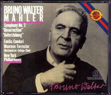 Bruno Walter: MAHLER SYMPHONY NO. 2 CBS 2cd 1957 Emilia Cundari Maureen Forrester