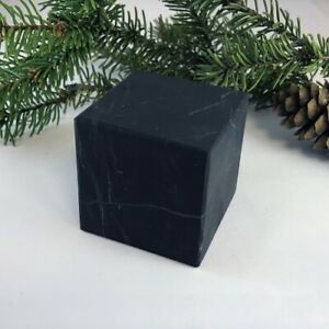 Shungite unpolished Cube 40x40 mm 1,57 inches EMF protection for home C60