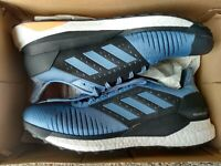Mens Adidas Solar Glide ST BOOST running shoes 12  blue steel black NEW!