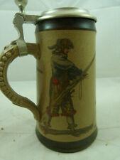 Vintage German MR Germany Beer Stein Mug Hunter Hunting Man 55803