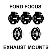 COMPLETE EXHAUST MOUNTS FOR FORD FOCUS MK1 1.6 1998-2004